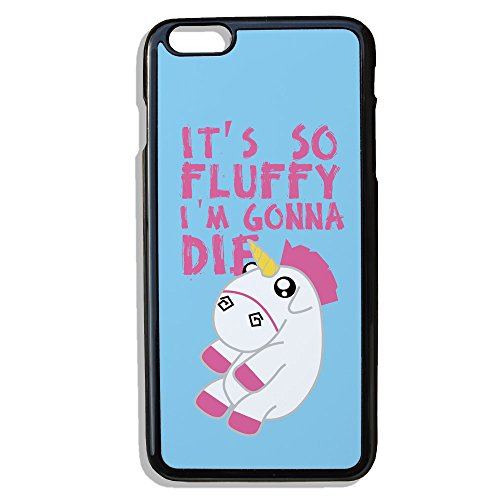 "Cover per iPhone 6 Plus, motivo: unicorno Chibi Kawaii ""it's so fluffy i'm gonna die"" Chamalow Shop"