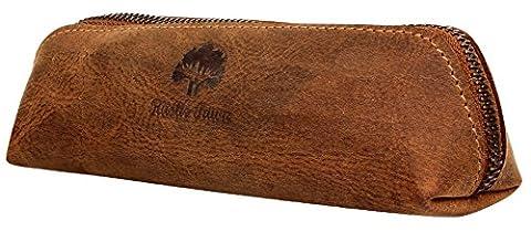 Rustic Town traditionnel fait main de qualité supérieure trousse en cuir porte-plume organisateur crayons style vintage petite pratique crayons règle stylos pour homme femme université bureau .