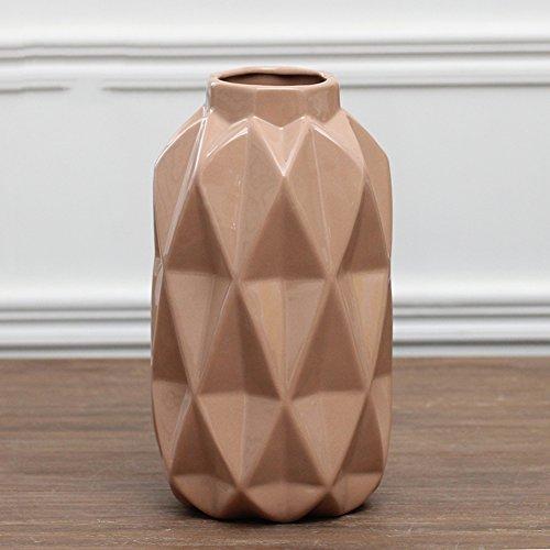 SE7VEN Moderne geometrische raute keramik vase/creative home living room tisch dekoration-braun