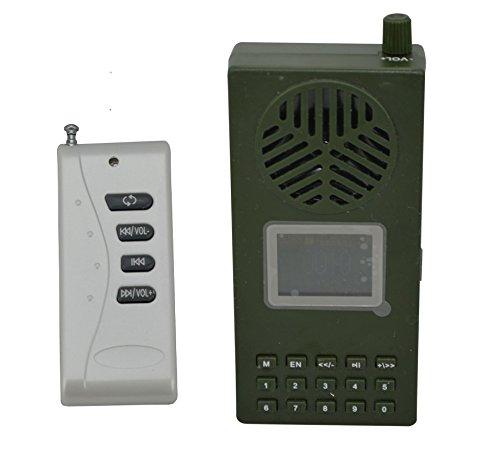 likeblue Jagd Vogel Anrufer 130dB Lautsprecher, MP3-Player 1800mA Akku mit Fernbedienung Jagd Vogel Mp3-player