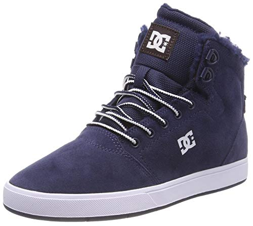 DC Shoes Herren Crisis HIGH Winter Skateboardschuhe, Blau (Navy/Khaki Nkh), 43 EU -