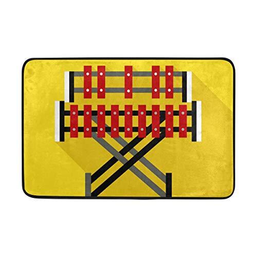 MALPLENA Xylophon Marimba Bodenmatten Schuhe Schaber Fußmatte Bereich Teppich Teppich Eintrag Way Fußmatte Wohnzimmer/Esszimmer/Schlafzimmer/Küche Rutschfeste