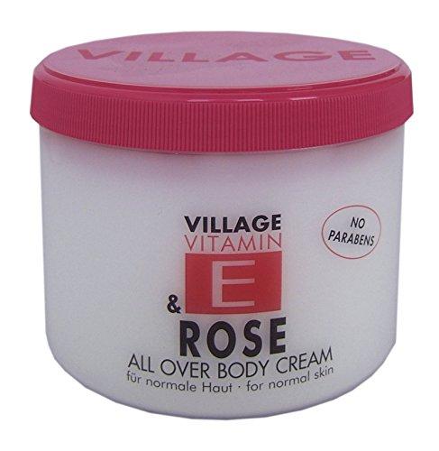 Schöne Body Lotion (Village 9506-11 Rose Body Cream 500ml mit Vitamin E)