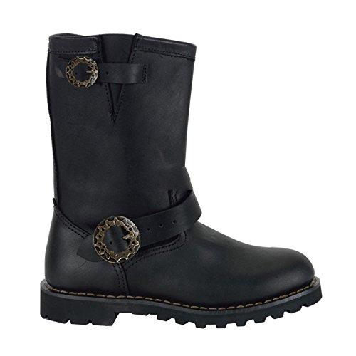 Preisvergleich Produktbild Demonia Steam - Gothic Steampunk Industrial Biker Leder Stiefel Schuhe 39-46, Blk Leather, EU-41/42 (US-M9)