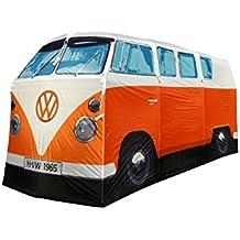 Tienda de campaña, diseño de Volkswagen Camper, color naranja