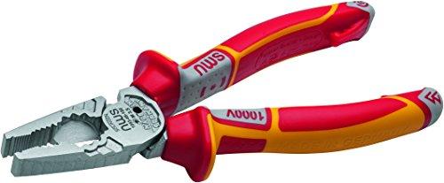 """NWS 109-49-vde-180-sb VDE número 109-49\""""CombiMax alicates de combinación, Plata/Rojo/Amarillo, 180mm"""