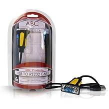 ABC Products - Cable adaptador USB a puerto serie RS-232 DB9 9 pines (convertidor Prolific Chipset PL2303RA a PDA, SAT, NAV y GPS)