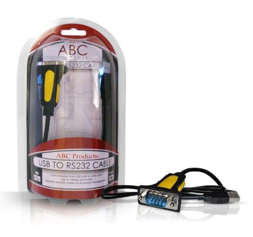 ABC Products® USB Vers Serie / 9 Pin / DB9 / Serial / RS-232 / RS232 Câble Adaptateur Adapter Adaptor Convertisseur Converter Convertor Prolific Chipset PL2303RA pour PDA Barcode SAT NAV GPS ou système de navigation etc PC et MAC Supports WIN 98SE, 2000, XP, Vista, 7, 8, MAC os V8.6~9.2 plus