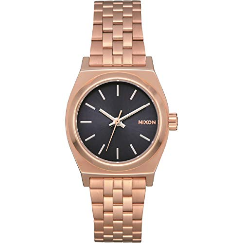 Nixon Small Time Teller Rose Gold/Storm One Size