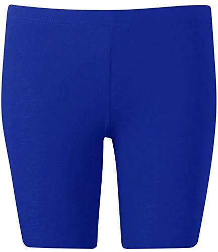Stars Womens Short (New Womens Plus Size Over Knee Plain Jersey Cycling Shorts ( Royal Blue , UK 16-18 / EU 44-46 ))