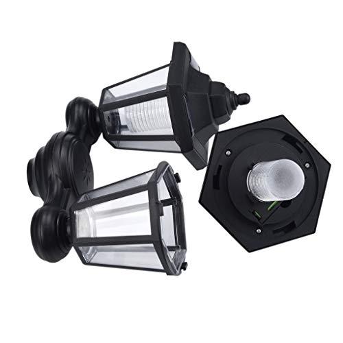 LIMITA Möbel Wohnaccessoires,Wasserdichte Solar-LED-Fackel-Licht-Flammen-Wand-Garten-Yard-Lampen-Weg-Safe im Freien (Schwarz) -