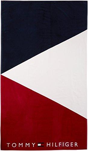 Tommy hilfiger towel - asciugamano unisex,multicolore (navy blazer/white/tango red 912), taglia unica