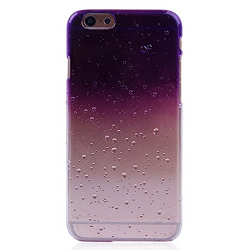Für IPhone 6 / 6S, Regentropfen Gradient Hard Case DEXING ( Color : Purple ) Purple