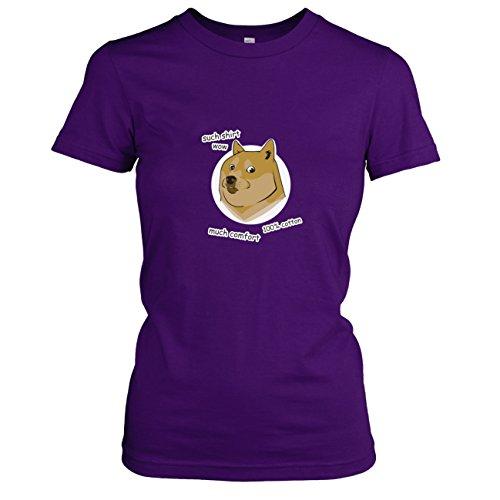 TEXLAB - Such Shirt Doge - Damen T-Shirt, Größe XL, violett