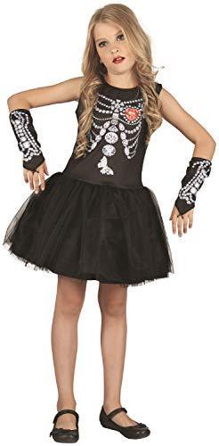 Fancy Me Mädchen Diamante Skelett Tutu Skull