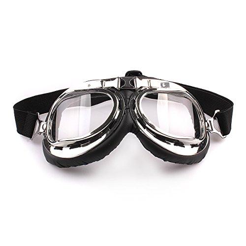 HugeStore Snowmobile Skibrille Gletscherbrille Schutzbrille Motorradbrillen Fliegerbrille Schneebrille Radsportbrille Transparent