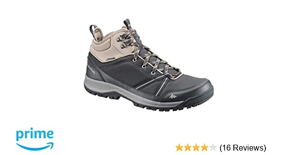 85cbdba5aba4 Quechua NH300 Mid Waterproof Men s Nature Hiking Boots - Black  Buy Online  at Low Prices in India - Amazon.in