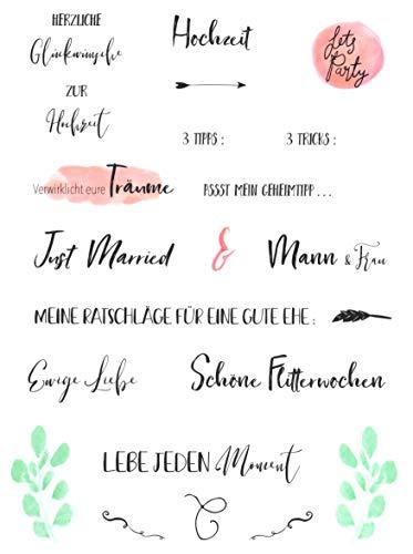 Hochzeits Sticker (Watercolors & Handlettering Design)   133 Stück - 5