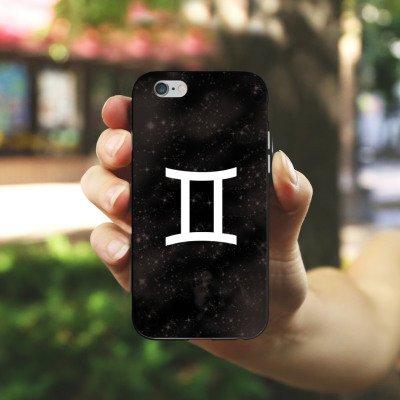 Apple iPhone 4 Housse Étui Silicone Coque Protection Signes du zodiaque Jumeau Astrologie Housse en silicone noir / blanc