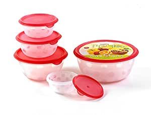 SUGAM FRESHO 5 PCS CONTAINER - RED