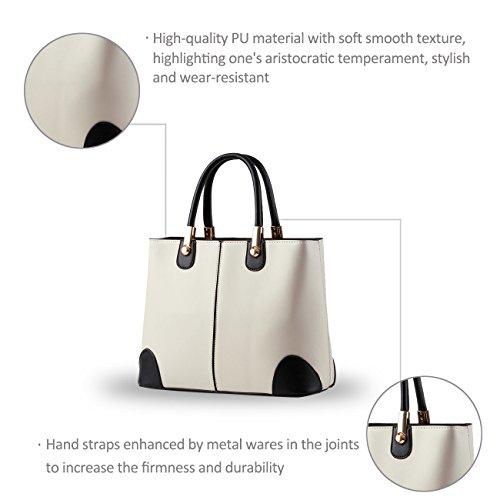 NICOLE&DORIS donne nuove donne borsa borse moda borsa messenger -Schulterbreite della borsa(Pink) White