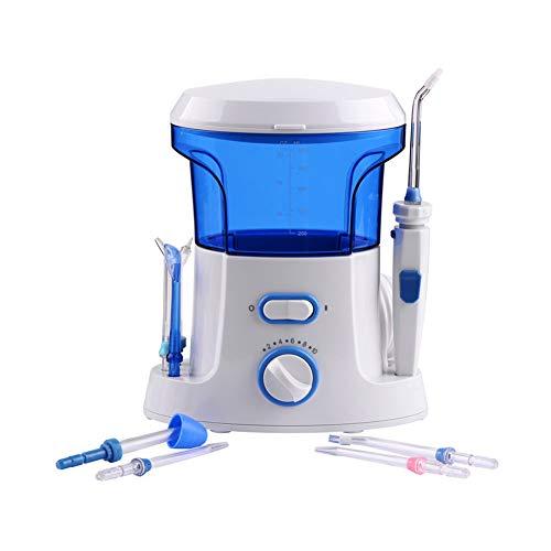 YCQJ Munddusche Water Flosser 600ml Wassertank 10Wasserdruck Einstellungen 7 Verschiedene FunktionsdüSen Ideal Zahnpflege DüSenreinigung ZahnbüRste Reise