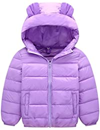 Meijunter Winter Outerwear Down Jacket Hooded Warm Coat Baby Girl Boy 1-8 Year