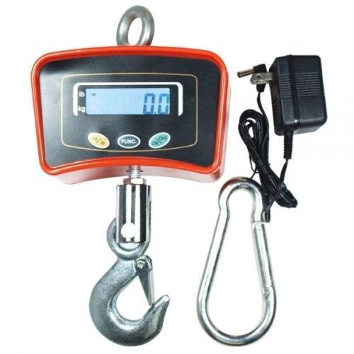 OX Bilancia Dinamometro da Gru 1000 kg con Gancio Industriale a Sospensione