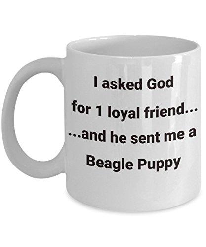 Beagle Puppy Kaffeebecher, treuer Freund religiöser Gott, gemütliche Keramiktasse Geschenke Hund Mama Zitrone Bereavement Frauen Recue Besitzer Loyalty Reisen Motto Opa (Religiöse Reise-tassen)