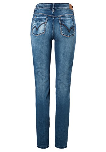 Timezone Damen Jeans Slim Tahila Womenshape Blau (Bright Blue Wash 3151)