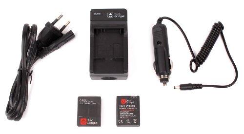 DURAGADGET-Caricabatteria-Con-Connessione-Europea-Caricatore-Da-Auto-Per-Videocamera-GoPro-Hero-HD-3-3-AHDBT-201-AHDBT-301-White-Silver-Black-Special-Edition-EXTRA-DOPPIO-PACK-di-Batteria-GoPro-Hero-3