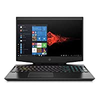 "HP Omen 15-dh0011ne Laptop, 15.6"" FHD, Intel core i7-9750, 32GB RAM, 1 TB SSD, NVIDIA GeForce RTX 2070 - Max Q 6 GB Graphics, Windows 10 Home, En-Ar KB, Black"