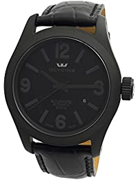 Glycine Incursore Automatic PVD Coated Steel Mens Watch Black Dial Calendar 3874.999 LBK9