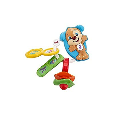 Fisher-Price Count and Go Keys, Baby Electronic Educational Toy with Sounds, Words, Letters, Numbers, 6 Months Plus