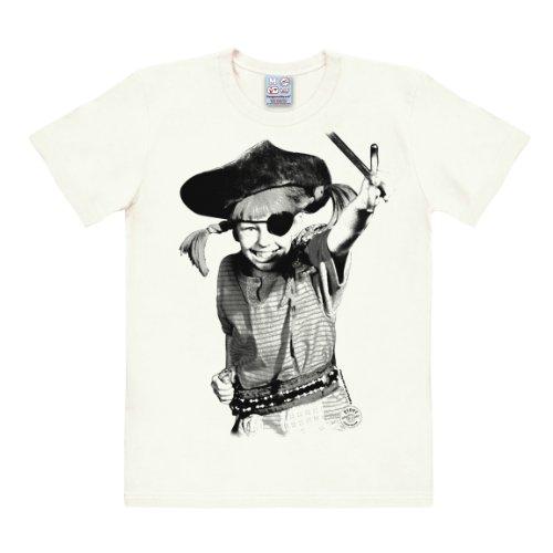 rumpf - Pirat - Rundhals Shirt von LOGOSHIRT - altweiß - Lizenziertes Originaldesign, Größe M (Astrid Kostüme)