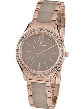 Jacques Lemans Damen-Armbanduhr Rome Analog Quarz Edelstahl beschichtet 1-1797H