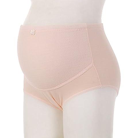 LianLe® Braguitas Premamá Braga Cintura Alta Ajustable para Mujer Interior de algodón