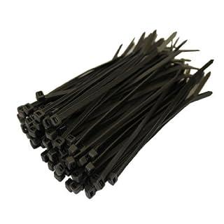 All Trade Direct Kabelbinder, 100 x 2,5 mm, alle Größen, 100 Stück schwarz