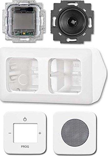 Image of Busch-Jaeger Radio Komplettset AP 8250-214 alpinweiß AudioWorld Elektronik-Gerät für Installationsschalterprogramme 4011395184875
