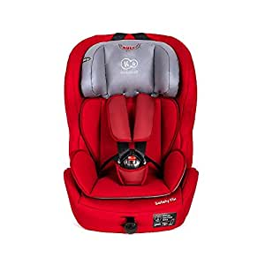 kinderkraft safetyfix kinderautositz mit isofix 9 36 kg gruppe 1 2 3 rot baby. Black Bedroom Furniture Sets. Home Design Ideas