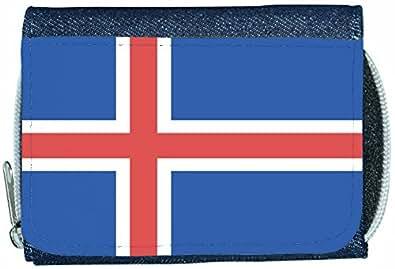 Portefeuille en Denim Motif drapeau de l'Islande