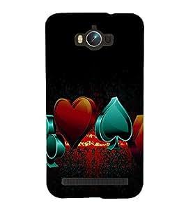 printtech Cards Logo Back Case Cover for Asus Zenfone Max ZC550KL