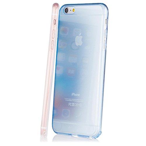 Apple iPhone 6/6S + PLUS (5.5 Zoll) | iCues Cristal Case Gold | Extra Leicht sehr Dünn Transparent Klarsichthülle Durchsichtig Klare Klarsicht 360 Grad Display Full Body Rundum beidseitig Komplett vor Rose