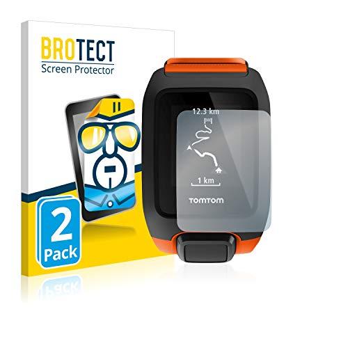 BROTECT Schutzfolie kompatibel mit TomTom Adventurer [2er Pack] - kristall-klare Bildschirmschutz-Folie, Anti-Fingerprint