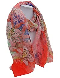 STYLE MIXX Details about Ladies Scarf Girls Scarf Womens Big Flower Thin Summer Holiday Beach Scarf Neck Wrap
