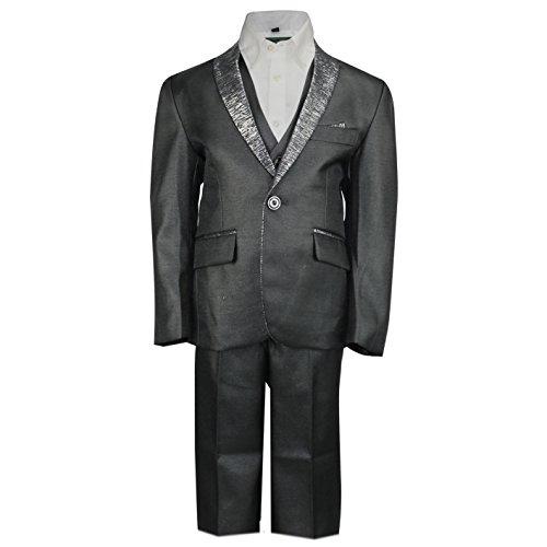 Kids Jungen Seite 3Stück schwarz Smoking Anzug mit Weste Hochzeit Party Smart Formelle Alter 2–12Jahre, ()