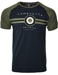 b813a91c9 Lambretta Mens Classic Retro Mod Ska Casual Cotton T-Shirt
