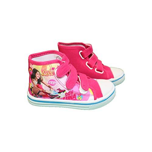 Soy Luna - Zapatillas de Baloncesto para niña, Morado (Rose À Motifs Colorés), 32 EU