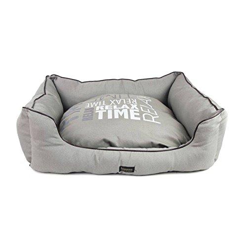 biozoo quadratisch, Bett mit Leder Grenzen und Nachricht für Hunde, Größe 6 - Leder-grenze