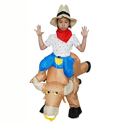 Sxwz Halloween aufblasbare Kleidung, Centaur Orc Adult Cosplay Weihnachten Karneval Eltern-Kind-Performance Party Kostüm,D,120/140cm (Centaur Kostüm Kinder)